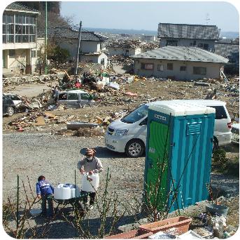 災害時のトイレ問題と、携帯トイレの使い方の動画を公開しました